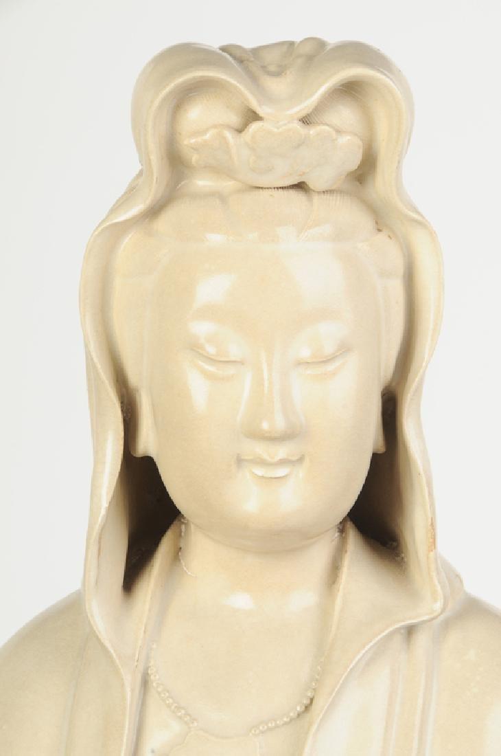 Seated Stoneware Guanyin - 2