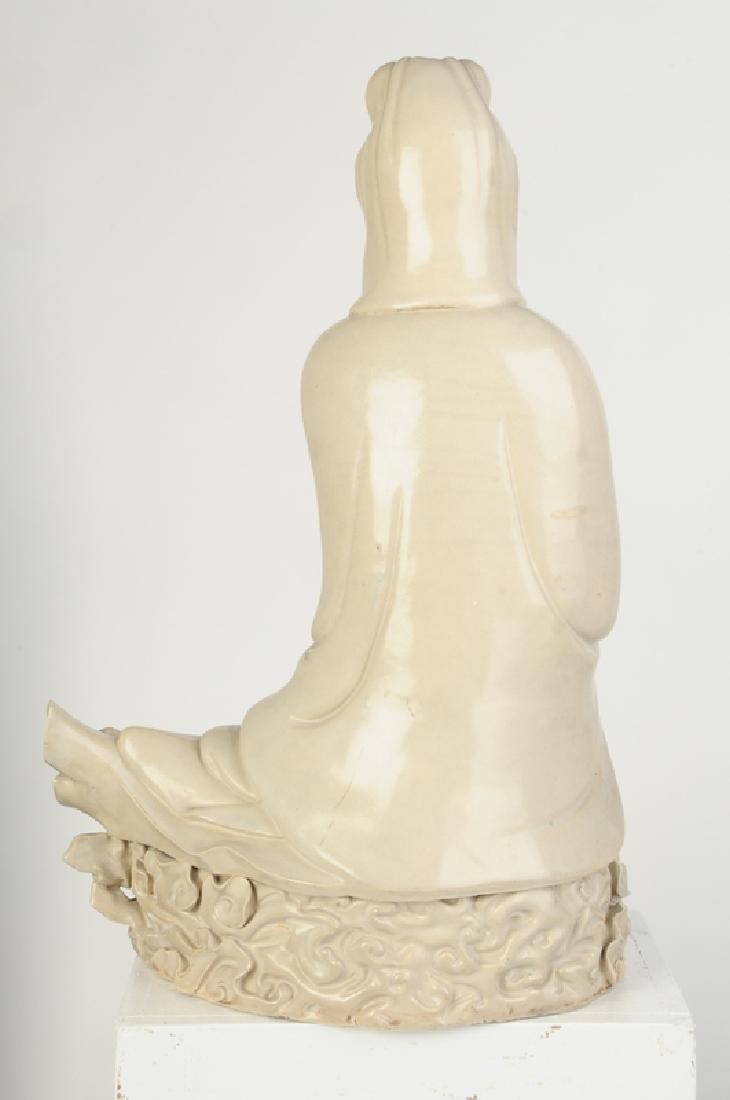 Seated Stoneware Guanyin - 5