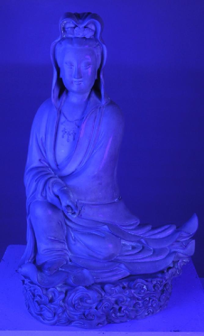 Seated Stoneware Guanyin - 7