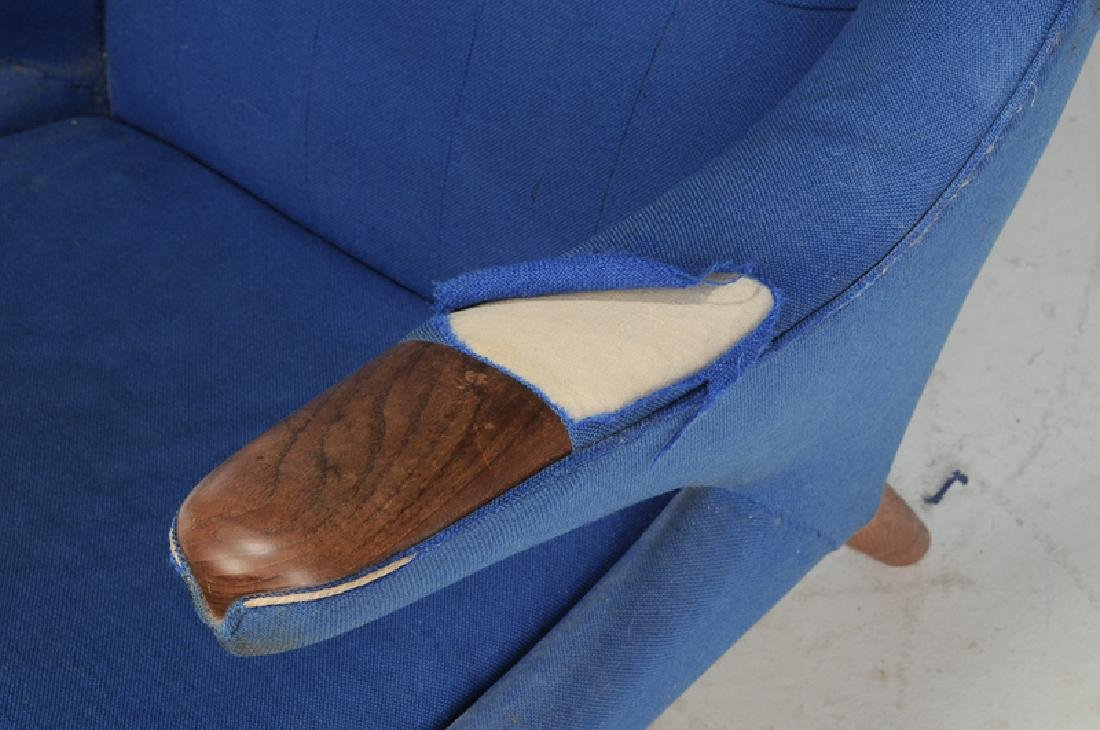 Celebrated Hans Wegner Papa Bear Chair and Stool - 2