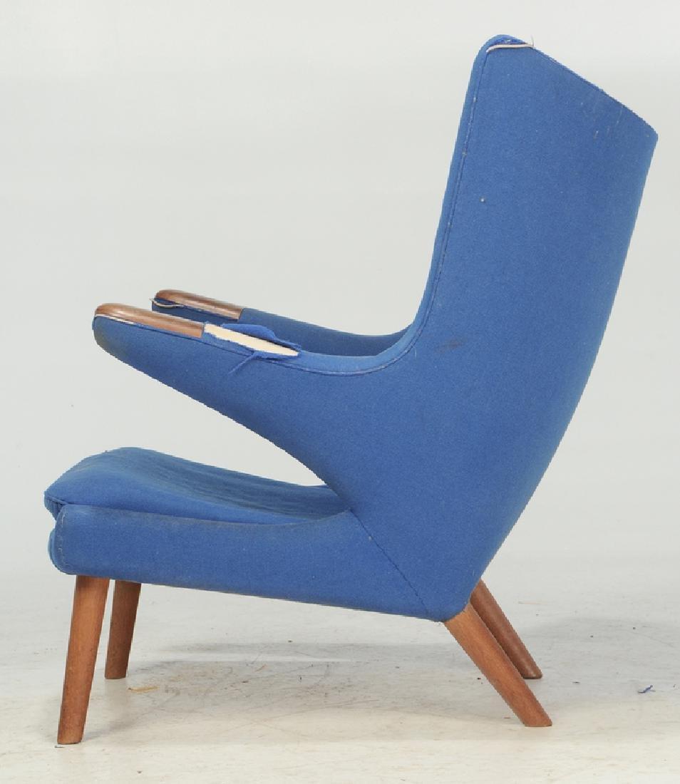 Celebrated Hans Wegner Papa Bear Chair and Stool - 7