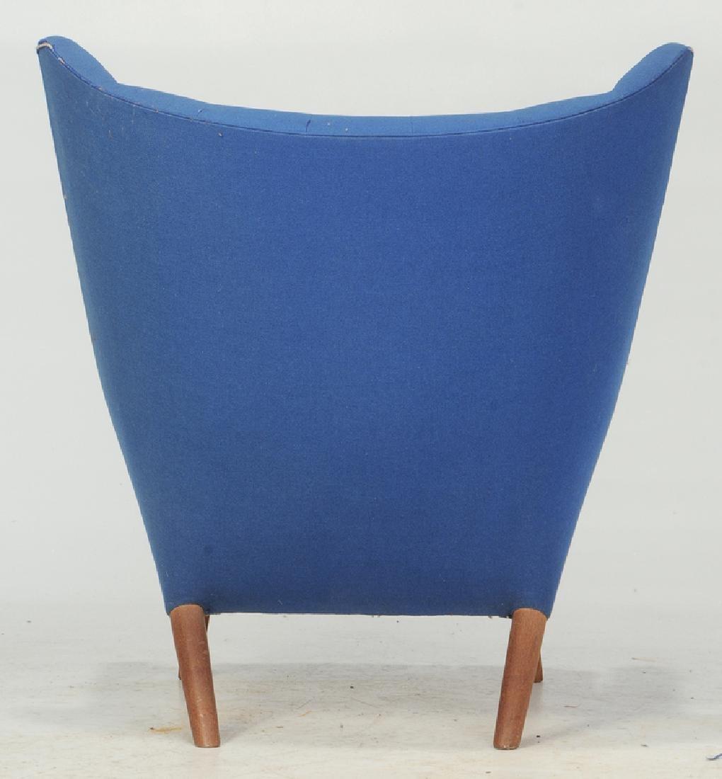 Celebrated Hans Wegner Papa Bear Chair and Stool - 8