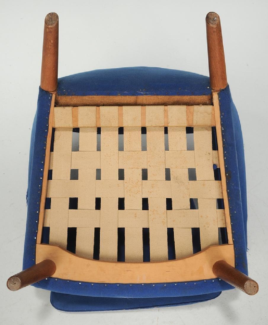 Celebrated Hans Wegner Papa Bear Chair and Stool - 9