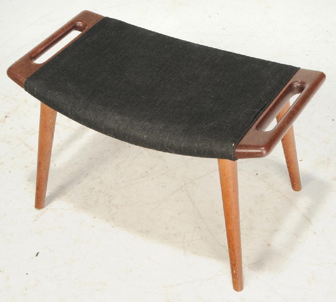 Celebrated Hans Wegner Papa Bear Chair and Stool - 10