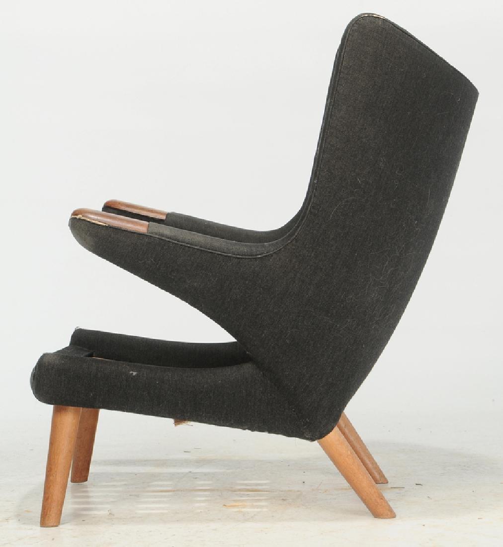Celebrated Hans Wegner Papa Bear Chair and Stool - 5