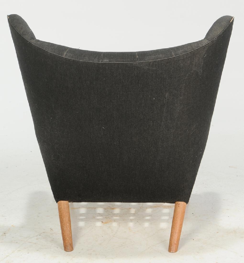 Celebrated Hans Wegner Papa Bear Chair and Stool - 6