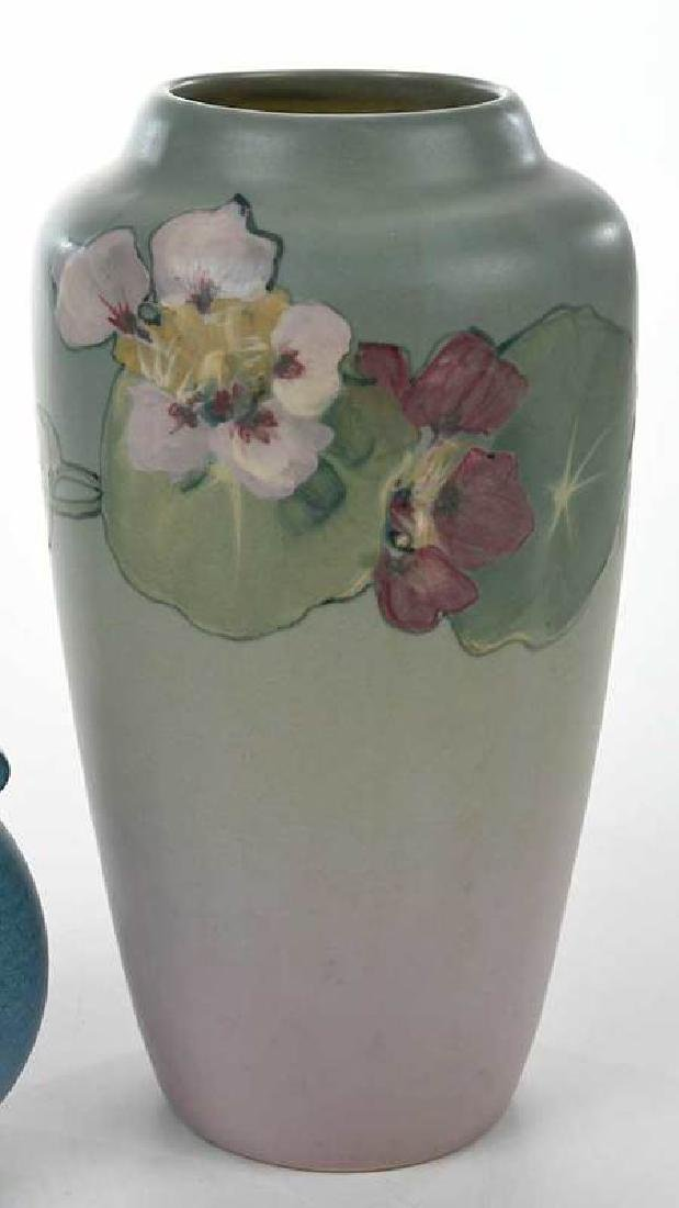 Two Weller Pottery Decorated Vases - 3