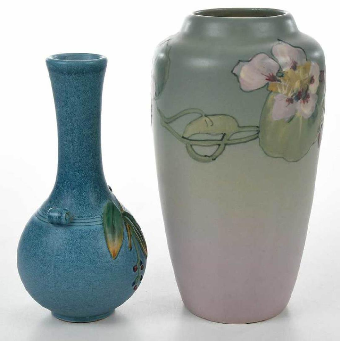 Two Weller Pottery Decorated Vases - 7