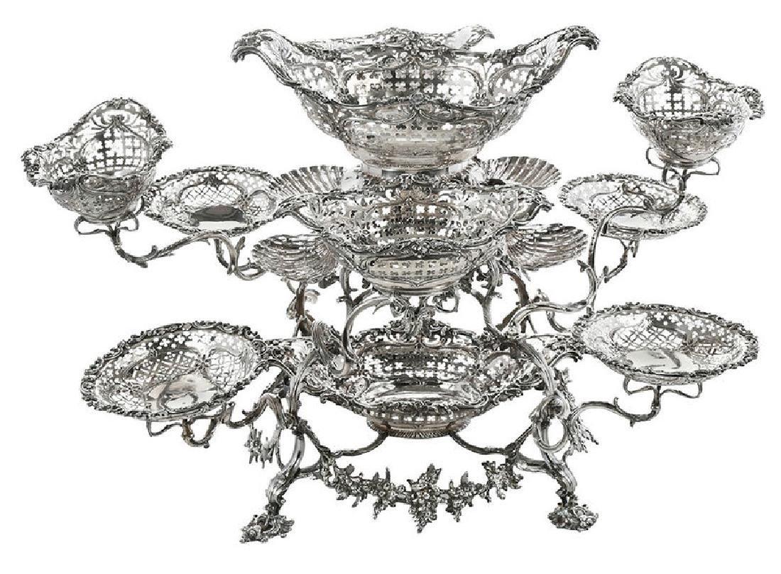 Fine George III English Silver Epergne