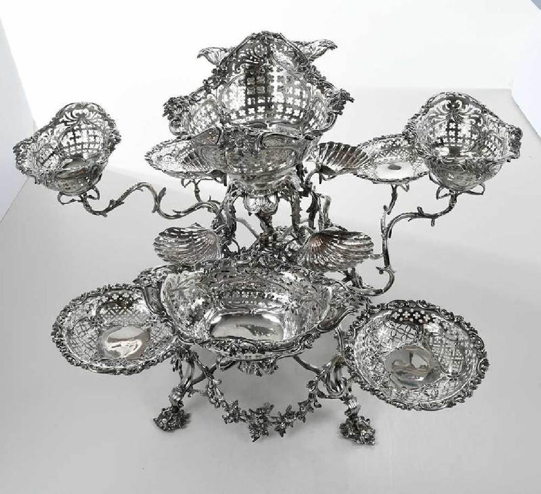 Fine George III English Silver Epergne - 4