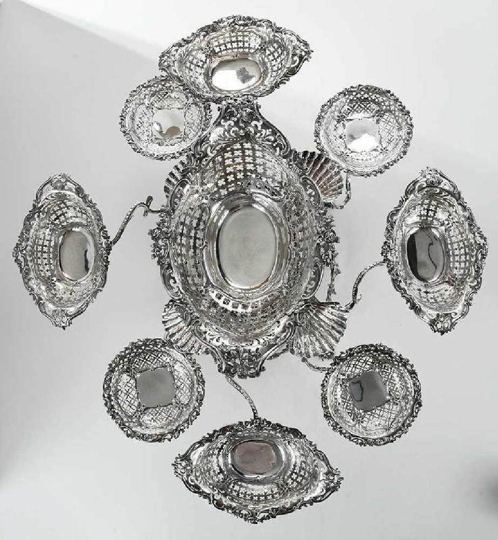 Fine George III English Silver Epergne - 5