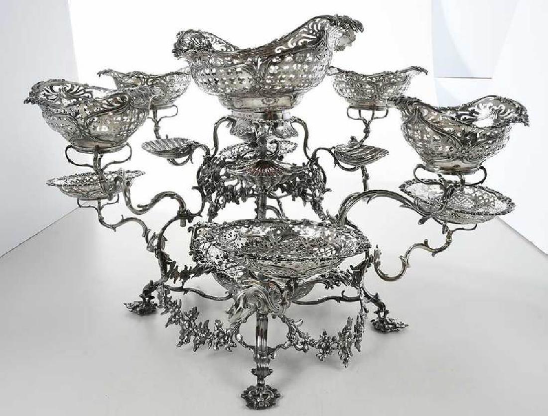 Fine George III English Silver Epergne - 7