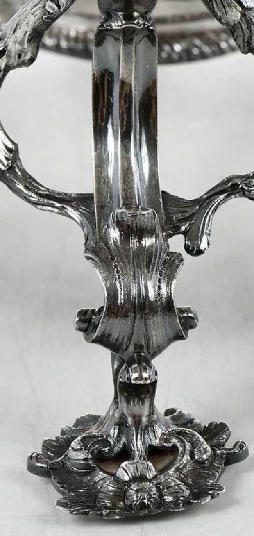 Fine George III English Silver Epergne - 8