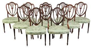 A Fine Set of Ten Federal Mahogany Dining Chairs