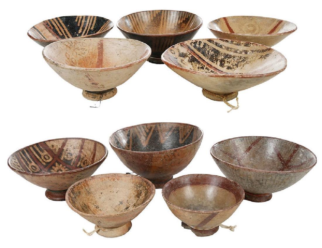10 Narino Footed Pottery Bowls