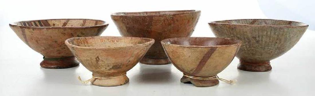 10 Narino Footed Pottery Bowls - 2