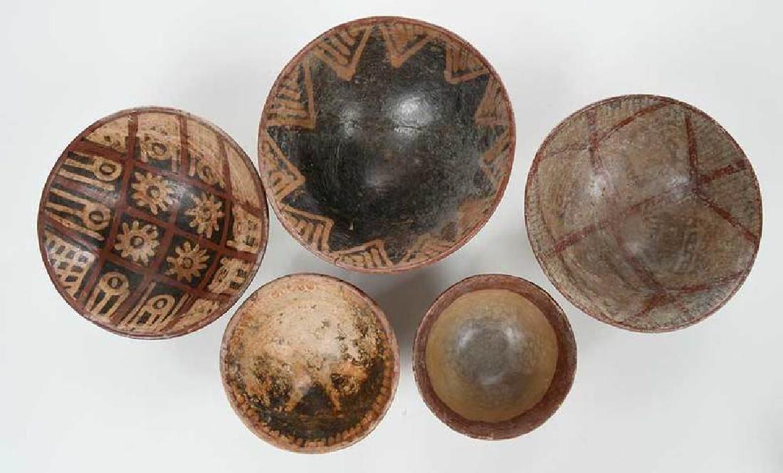10 Narino Footed Pottery Bowls - 3