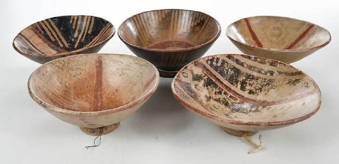 10 Narino Footed Pottery Bowls - 7