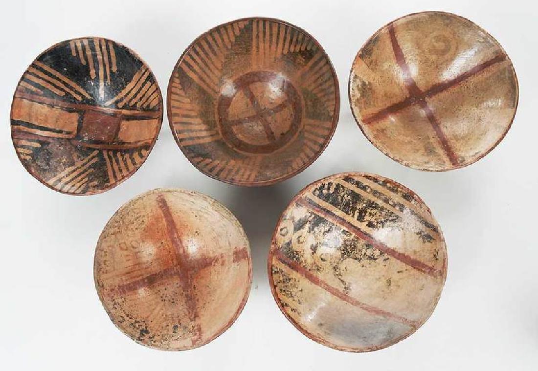 10 Narino Footed Pottery Bowls - 8