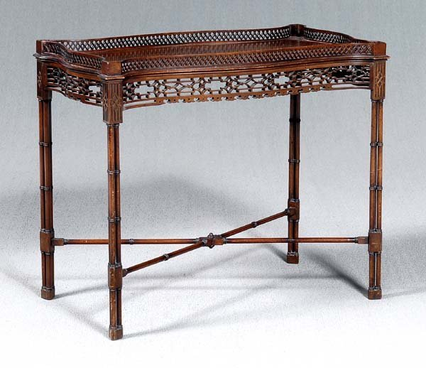 21: Fine Chippendale style silver table,