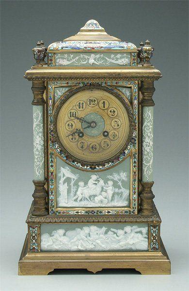 Fine J.E. Caldwell French shelf clock,