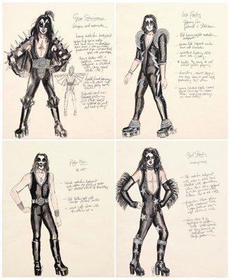 559: Four LeGaspi KISS costume designs: