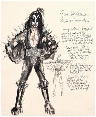 559: Four LeGaspi KISS costume designs: - 2