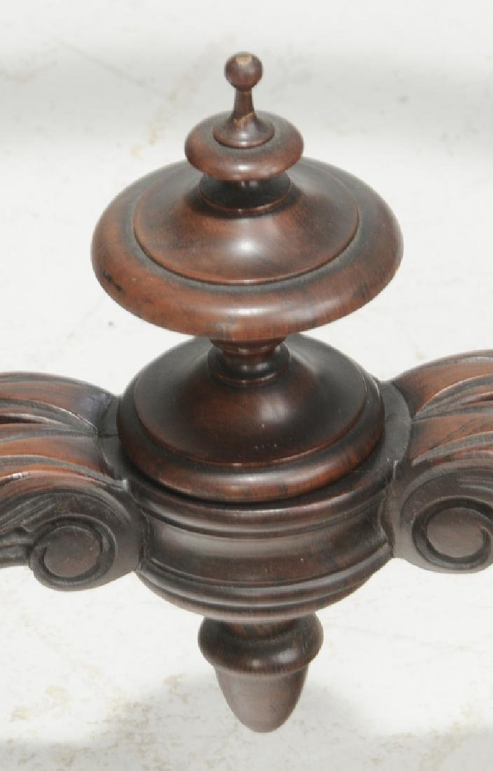 Carved Victorian Rosewood Center Table - 3