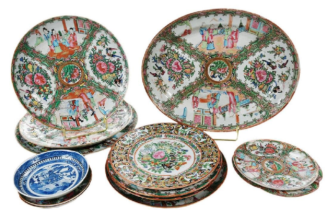 12 Chinese Export Plates