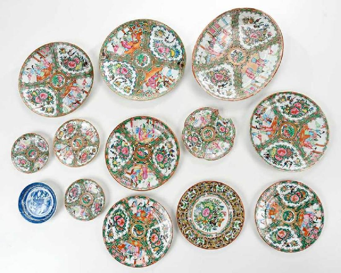 12 Chinese Export Plates - 2