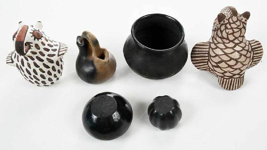 Six Miniature Pieces Southwestern Pottery - 2