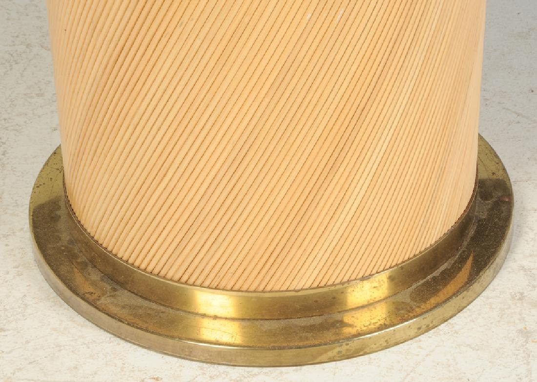 Rattan and Brass Mounted Center Table - 2