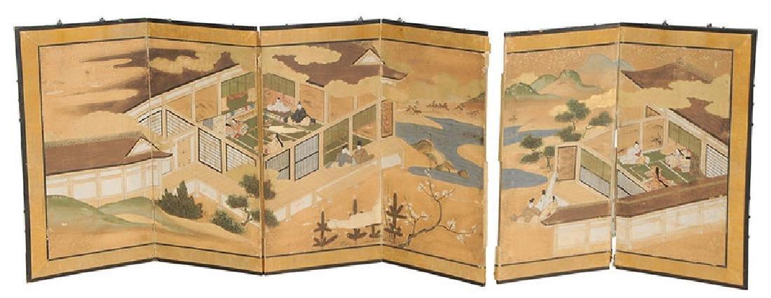 Six Panel Japanese Screen