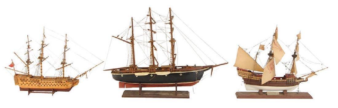 Three English Ship Models