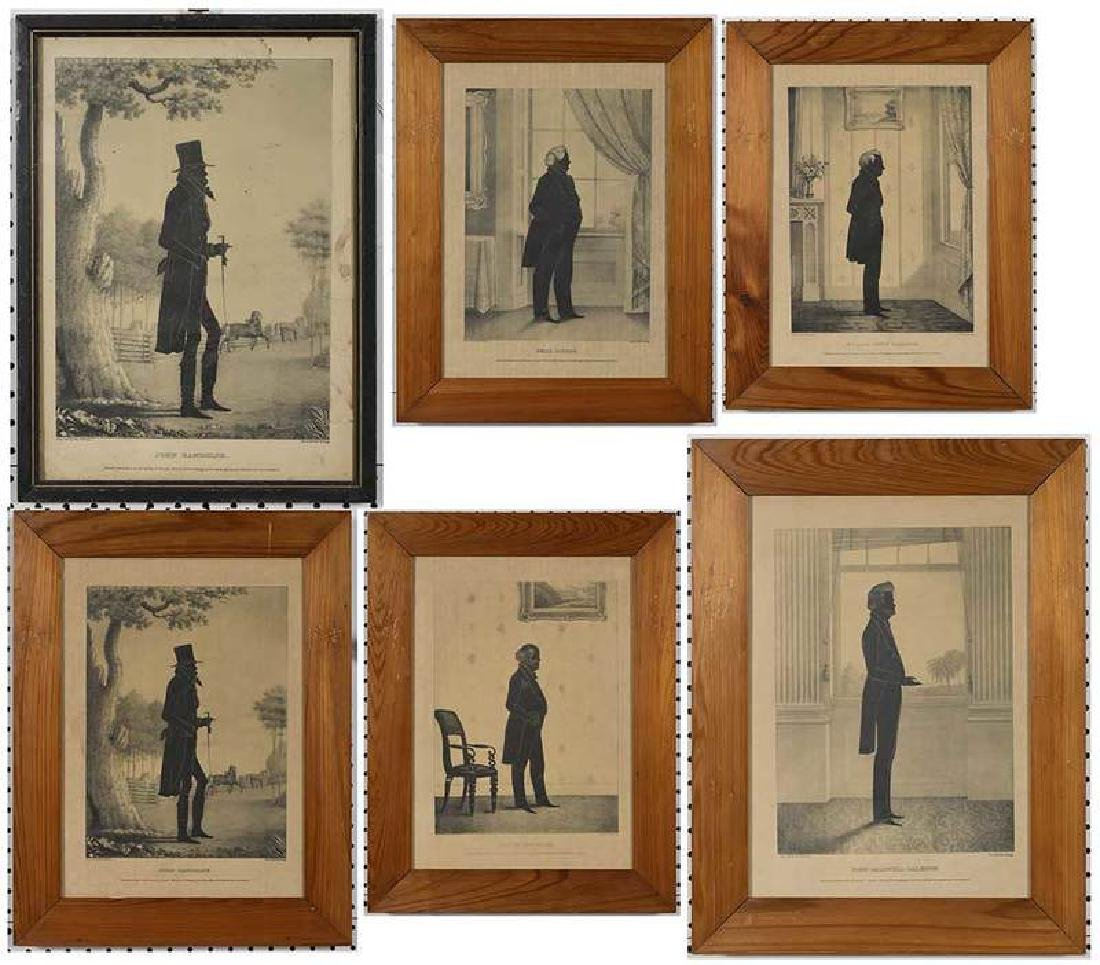 Eight Silhouette Drawings and Lithographs