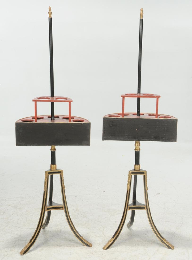 Pair Regency Style Plant Stands - 4