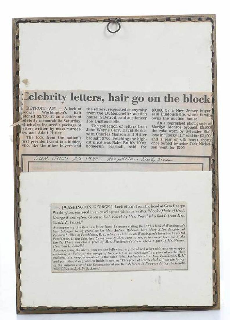 A Lock of George Washington's Hair - 4