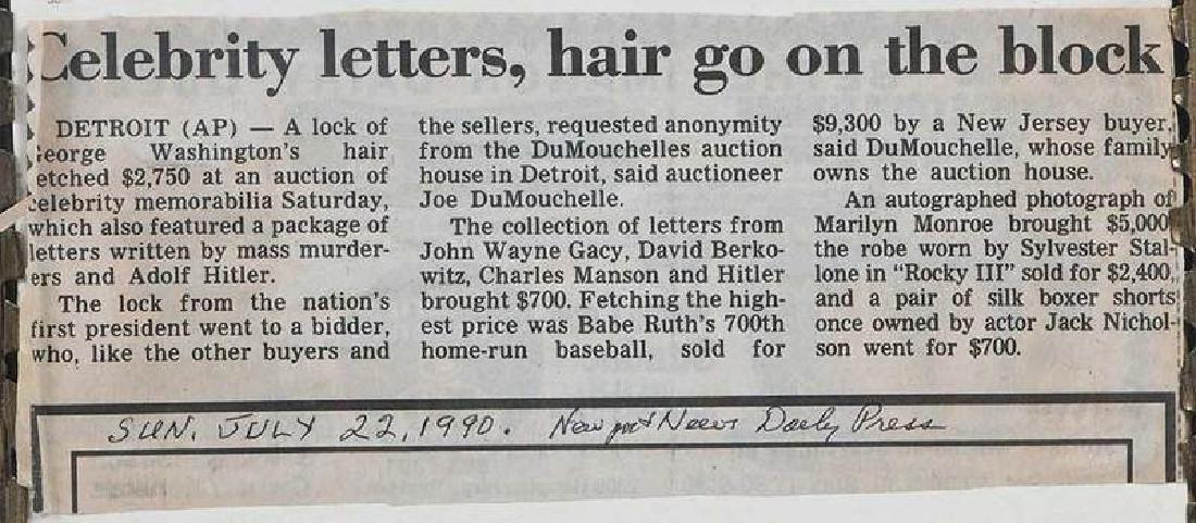 A Lock of George Washington's Hair - 6