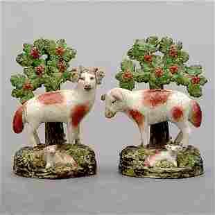 Two Staffordshire sheep,