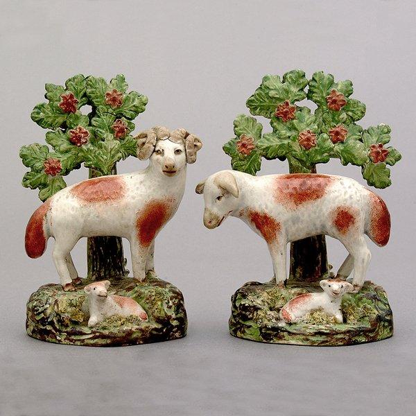 20: Two Staffordshire sheep,