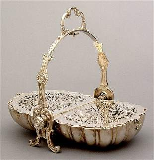 Silver plated biscuit box,