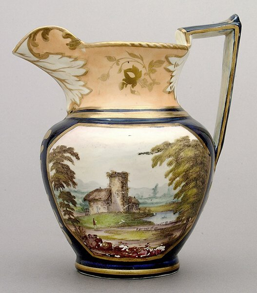 4: Luster ware pitcher,