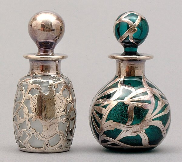 8: Two silver overlay perfumes: