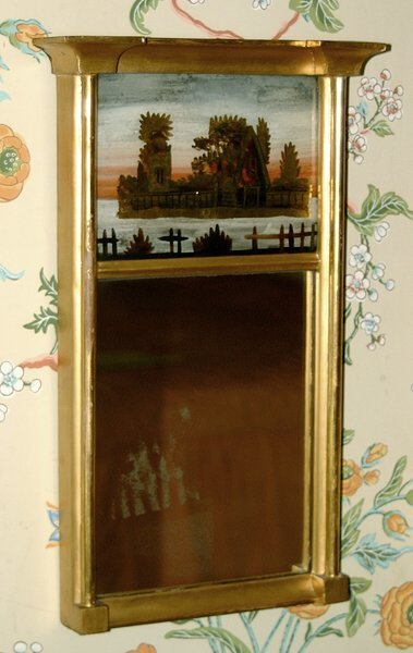 9: Federal-style mirror,