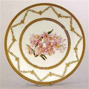 Six hand painted Limoges plates,