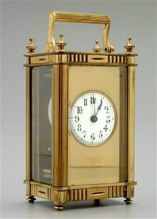 Brass carriage clock,