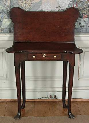 George III diminutive card table,