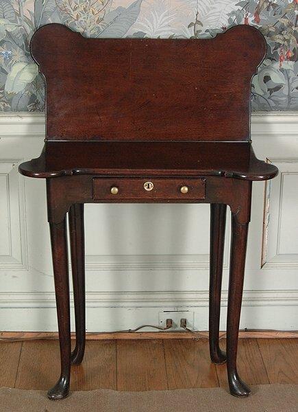 17: George III diminutive card table,