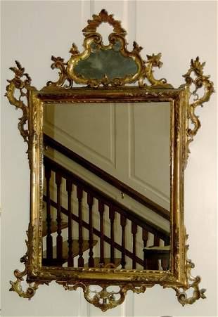 Carved gilt wood mirror,