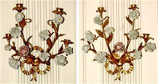 364 Pair Louis XVstyle wall sconces